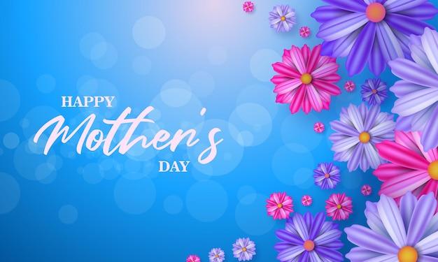 Feliz dia das mães banner cartão para mídia social