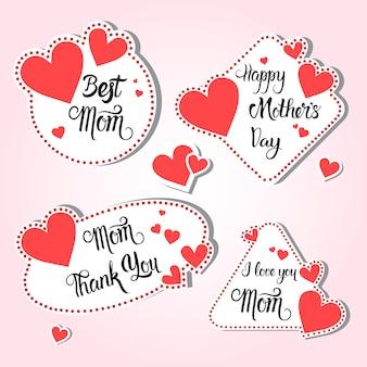 Feliz dia das mães, banner de cartão de férias de primavera