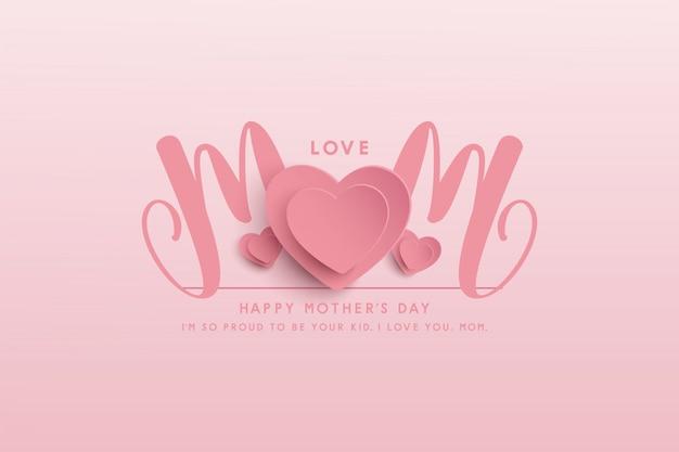 Feliz dia das mães banner design. ilustração