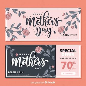 Feliz dia das mães banner