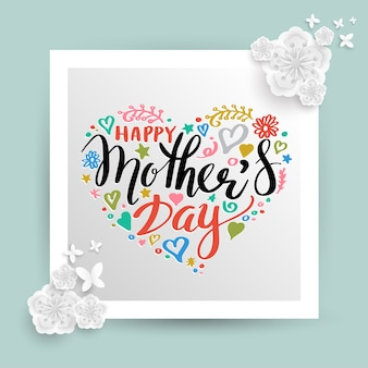 Feliz dia das mães banner.