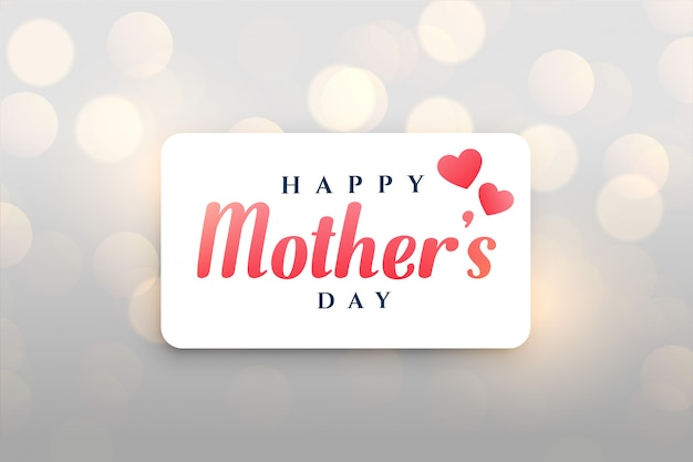 Feliz dia das mães bokeh de fundo
