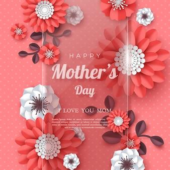 Feliz dia das mães cartão.