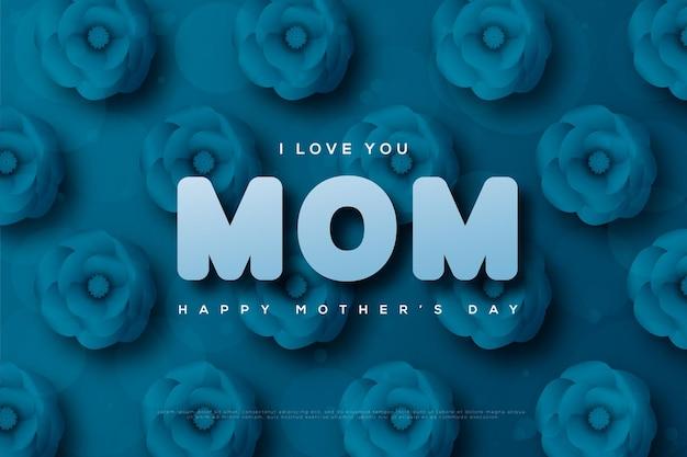 Feliz dia das mães com papel florido.