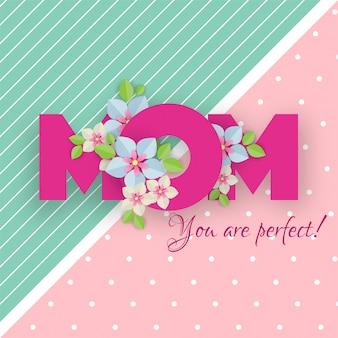 Feliz dia das mães conceito.