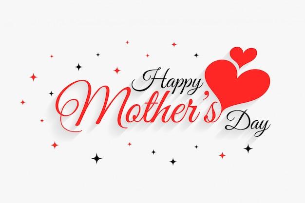 Feliz dia das mães corações linda saudação