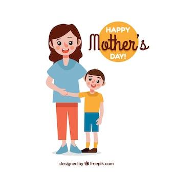 Feliz dia das mães de fundo com a família