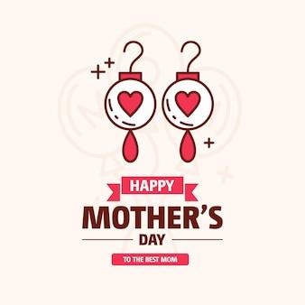 Feliz dia das mães de fundo