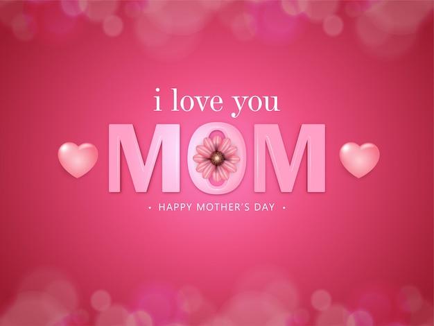 Feliz dia das mães design de cartão com flor