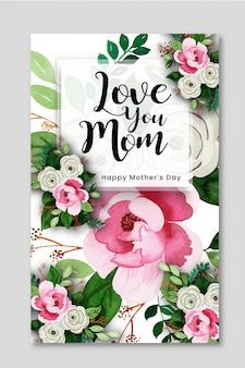 Feliz dia das mães design de cartaz criativo