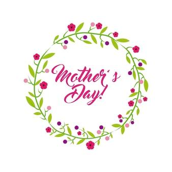 Feliz dia das mães design