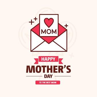 Feliz dia das mães doce vintage fundo