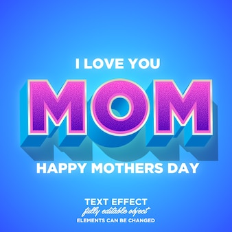 Feliz dia das mães efeitos de fonte