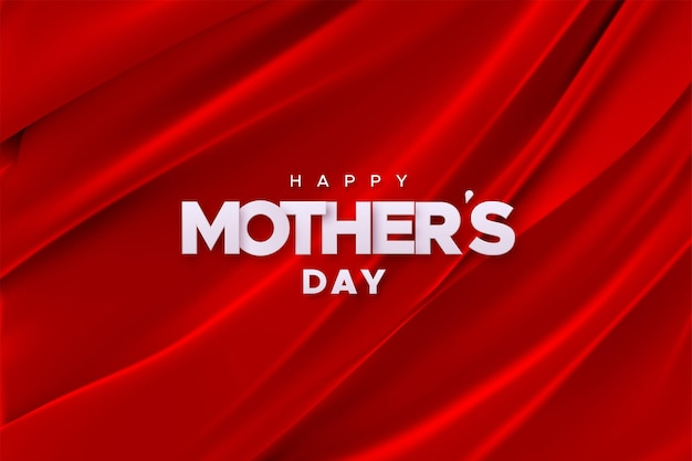 Feliz dia das mães em fundo de tecido de veludo vermelho