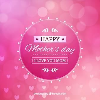 Feliz dia das mães fundo desfocado
