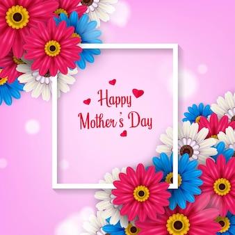 Feliz dia das mães ilustração desenho de pôster Vetor Premium