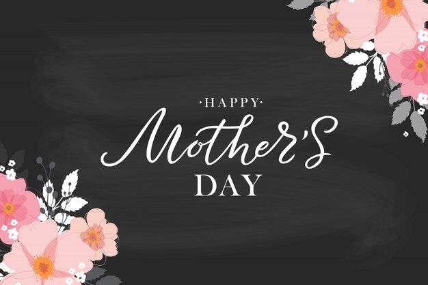Feliz dia das mães manuscrita letras, cartão de felicitações