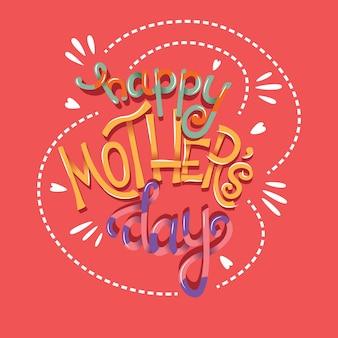 Feliz dia das mães mão lettering