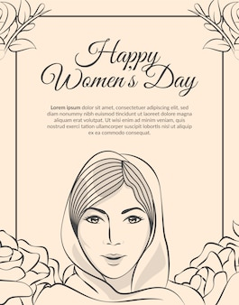 Feliz dia das mães / mulheres dia saudação