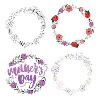 Feliz dia das mães quadros florais