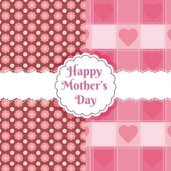 Feliz dia das mães sobre o padrão bonito