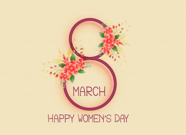 Feliz dia das mulheres 8 de março de design de fundo