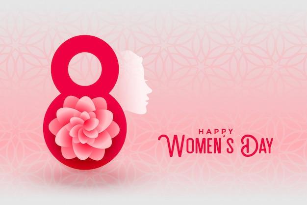 Feliz dia das mulheres cartão criativo