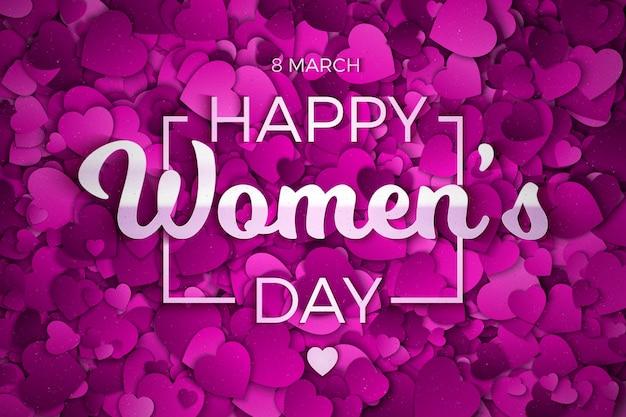 Feliz dia das mulheres cartão