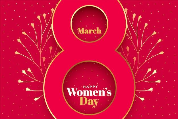 Feliz dia das mulheres conceito criativo de fundo