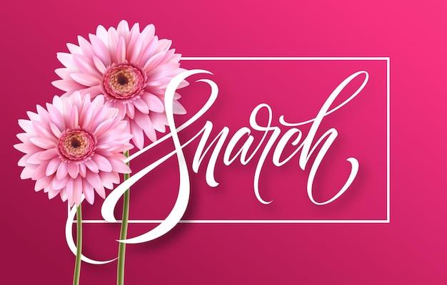 Feliz dia das mulheres em 8 de março.