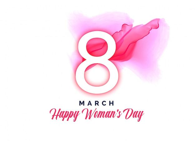 Feliz dia das mulheres em aquarela de fundo