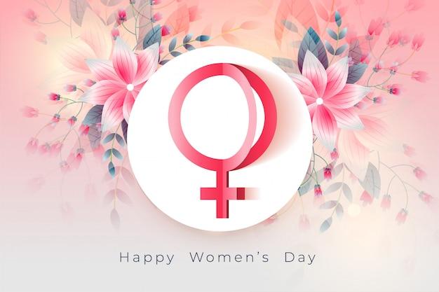 Feliz dia das mulheres linda flor de fundo