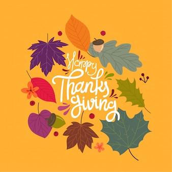 Feliz dia de ação de graças, conceito