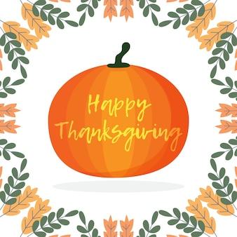 Feliz dia de ação de graças ilustração de ícone de abóbora colheita de outono ilustração de ação de graças