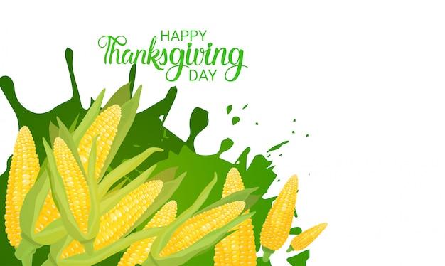 Feliz dia de ação de graças outono tradicional colheita férias cartão