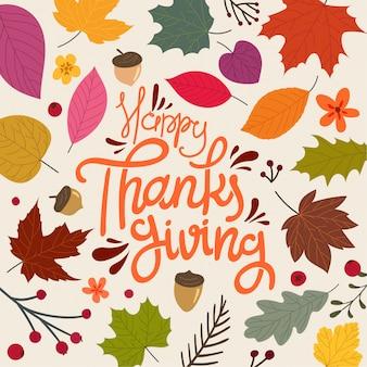 Feliz dia de ação de graças,