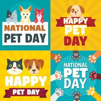 Feliz dia de animal de estimação nacional pet