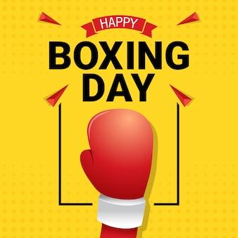 Feliz dia de boxe celebração cartão