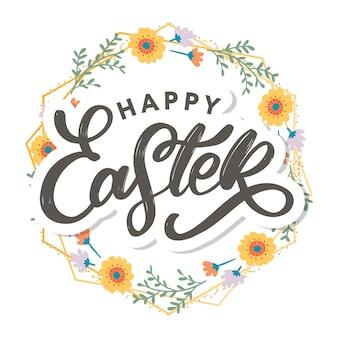 Feliz dia de páscoa cartão de felicitações