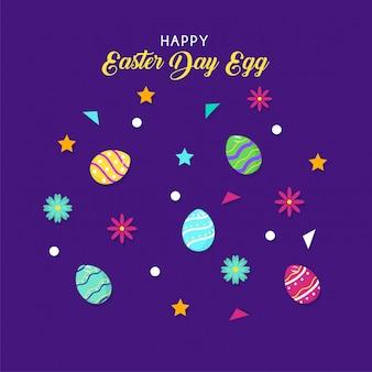 Feliz dia de páscoa fundo de ovo