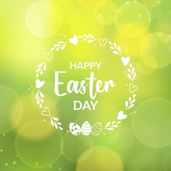 Feliz dia de páscoa turva e efeito bokeh