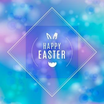 Feliz dia de páscoa turva