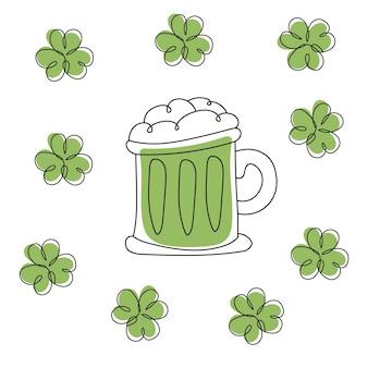 Feliz dia de st.patrick. cerveja. para design de cartão de menu de restaurante. modelo de menu no dia de patricks. ilustração vetorial