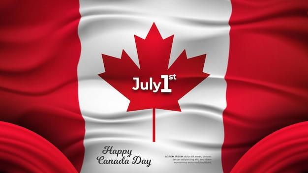 Feliz dia do canadá bandeira do canadá realista