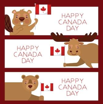 Feliz dia do canadá cartão