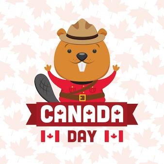 Feliz dia do canadá conceito