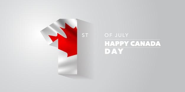 Feliz dia do canadá . dia nacional canadense, dia 1º de julho, plano de fundo com elementos da bandeira