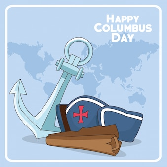 Feliz dia do columbus design