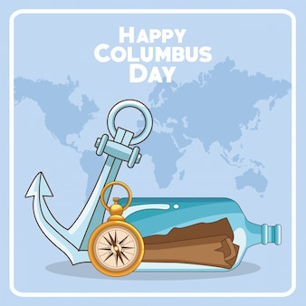 Feliz dia do columbus design