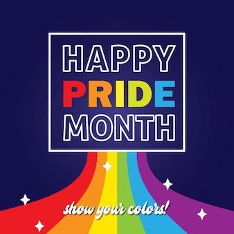 Feliz dia do orgulho mostre suas cores orgulho lgbt